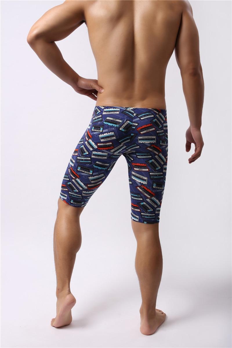 Мужчины одежда для сна низ лето мягкий боксер сна низ шорты пижама сексуальное ночное белье обтягивающие леггинсы трусы пижама нижнее белье