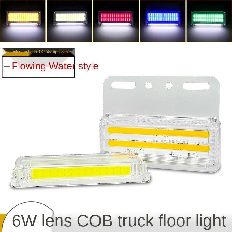 24V Truck Cob Running Water Steering Side Light Truck Super Bright Waterproof Lighting Floor Sidelight Trailer Waist Light