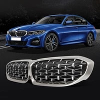 meteor style replacement grille car bumper grill for bmw 3 series g20 g28 2018 2020 front grills car accessories