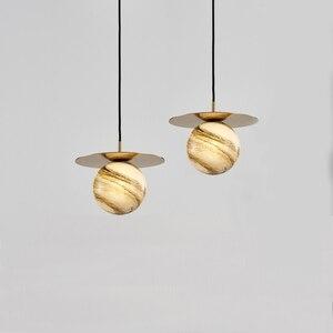 Modern Pendant Lights Glass Ball Restaurant Bedroom Decoration Lighting Fixture Simple Nordic Hanging Luminaire Suspension Lamps
