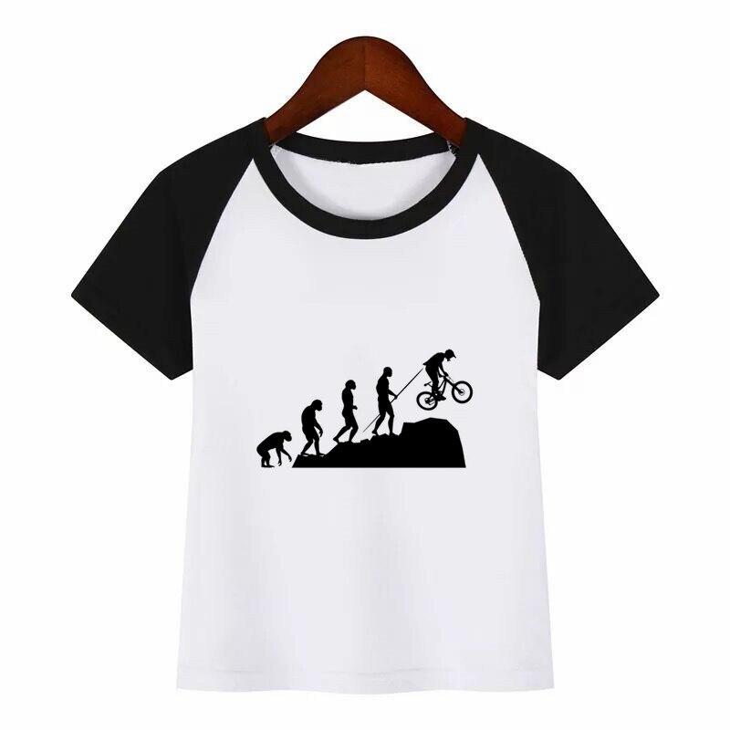t shirt diy Bicycle Diy Print T Shirt Funny Clothes Children Summer T-shirt Kids Fashion Clothing T Shirt Children Cartoon T-shirt