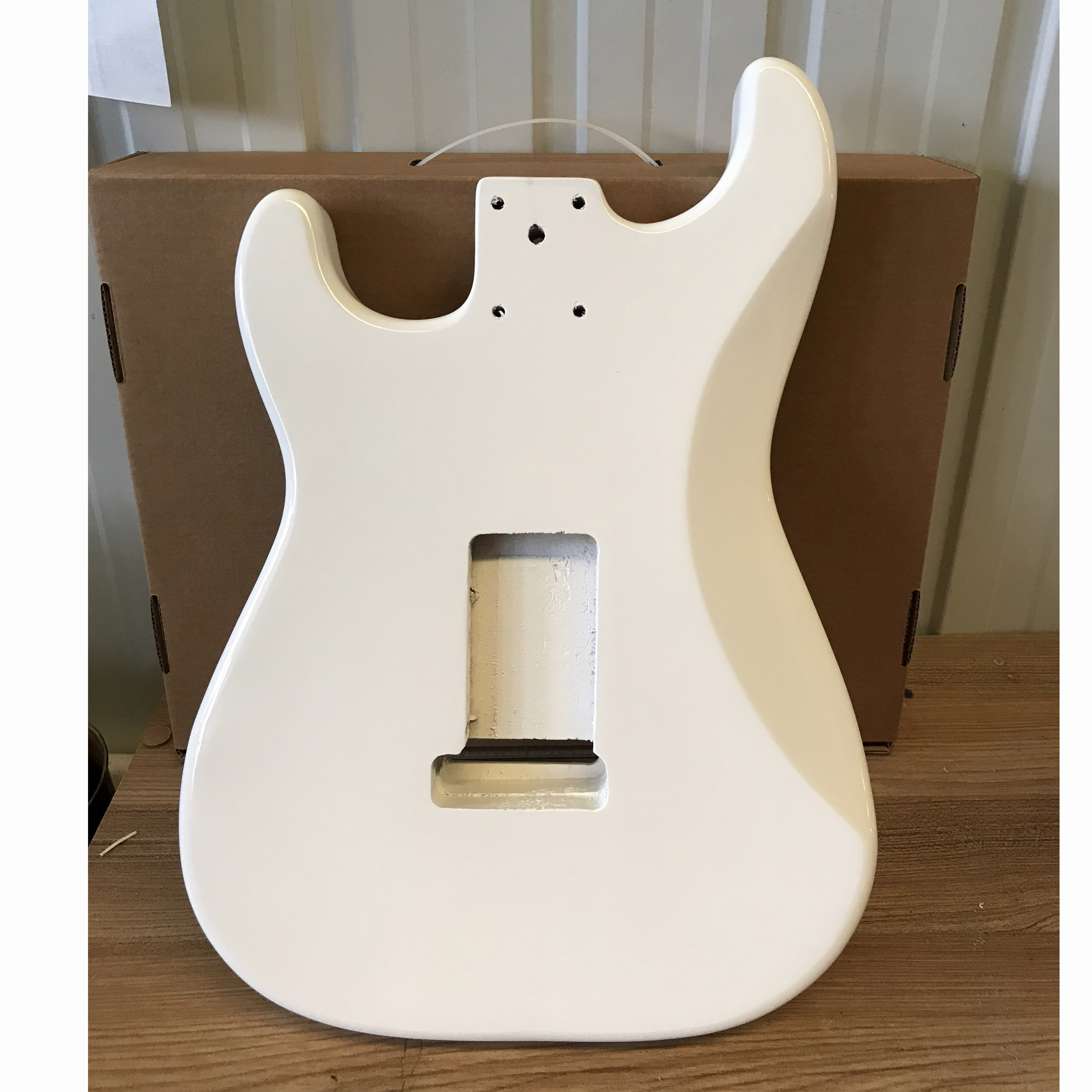 Free Shipping White Colour Electric Guitar Body Unfinished Guitar Body Maple Semi Finished DIY Fender ST Style Guitar Barrel enlarge