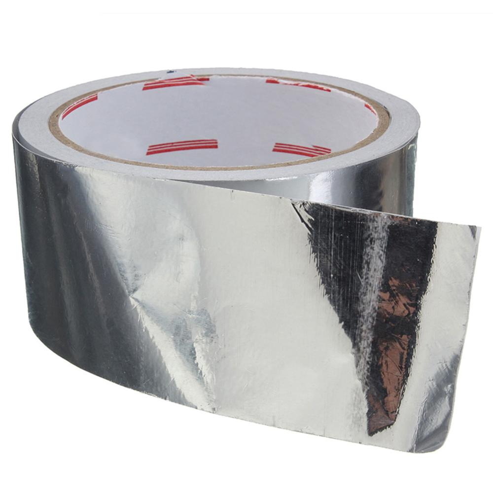 1 шт. клейкая лента из алюминиевой фольги термостойкая клейкая лента для ремонта воздуховодов с высокой термостойкостью 5 см x 17 м
