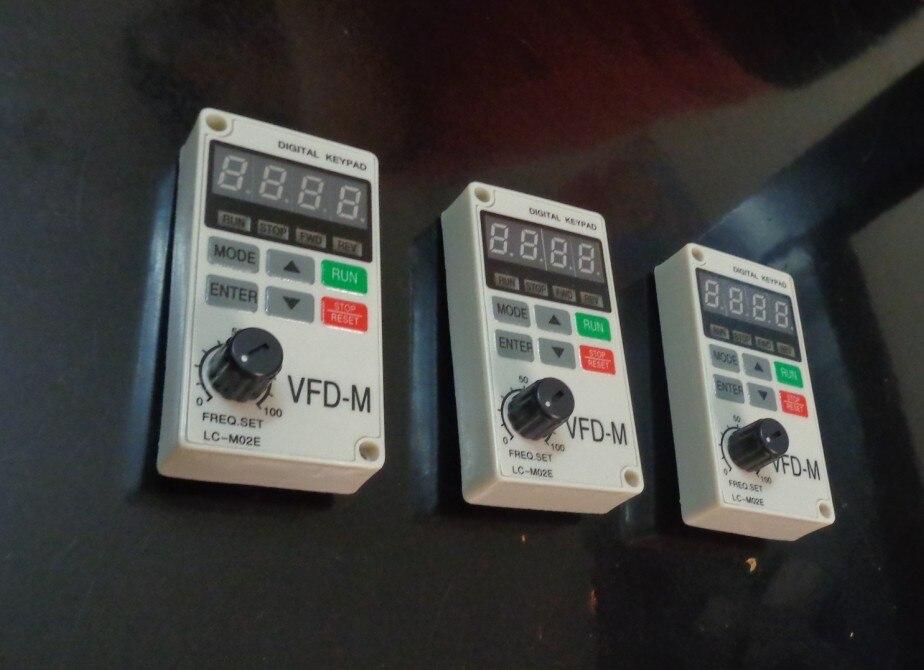 [해외] 범용 LC-M02E LC-M2E VFD-M 유형 새로운 인버터 조작 패널 키보드 디스플레이