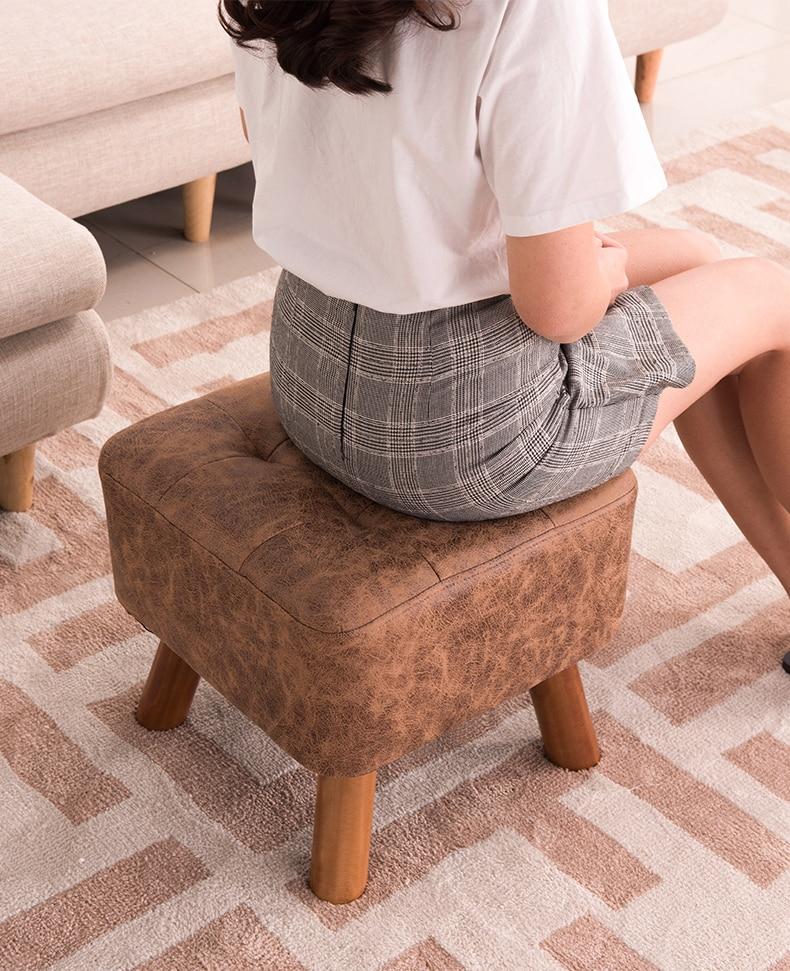 Модный креативный диван-табурет, табурет для ног, османский чехол, Северный стул, обеденная скамейка, искусственная кожа, пуф, османский Бан...