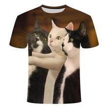 Hot Koop Zomer Ondeugende Zwarte Kat 3d T Shirt Vrouwen Mooie Cartoon Tshirt Goede Kwaliteit Origine