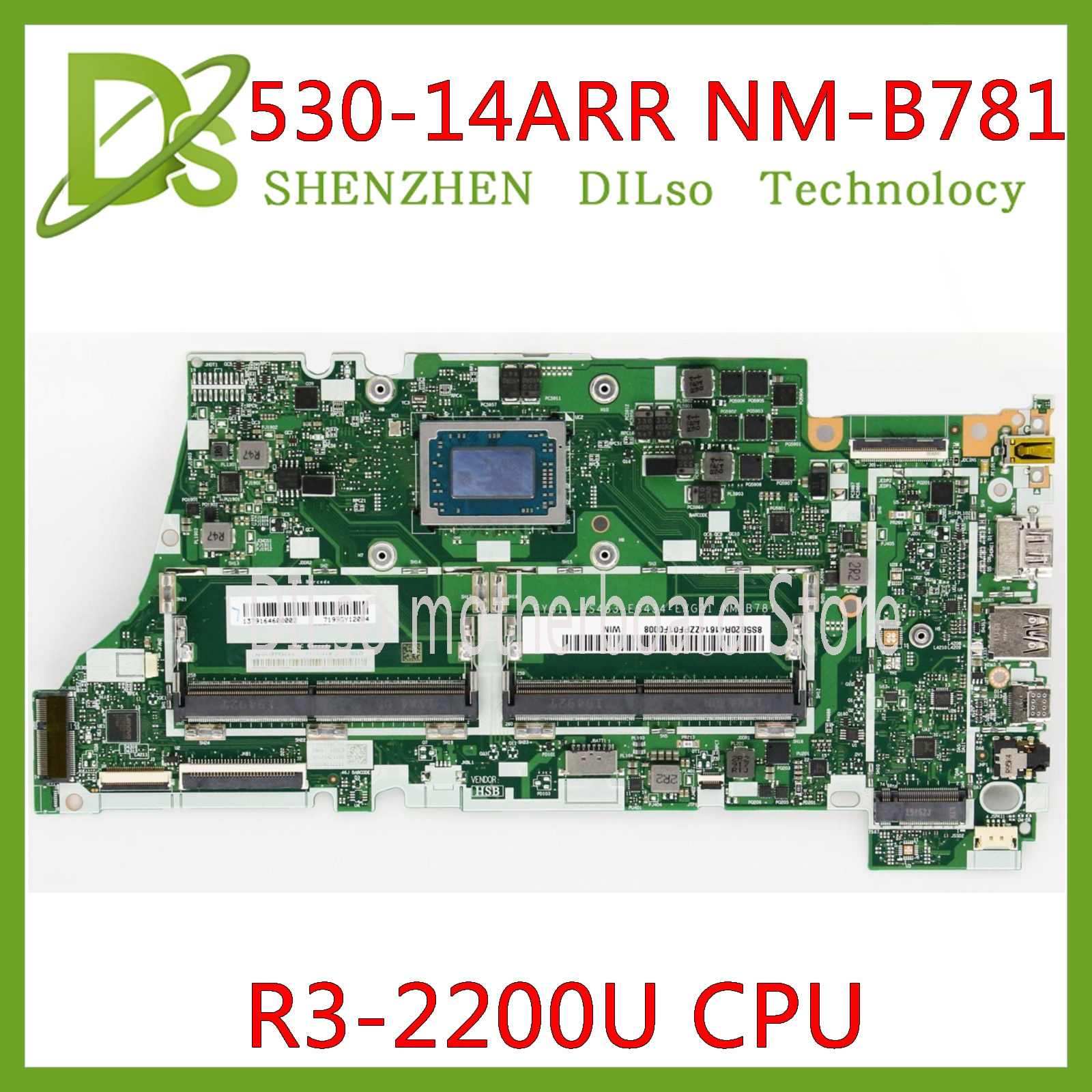 KEFU NM-B781 اللوحة لينوفو Xiaoxin الهواء اليوغا 530-14ARR اللوحة الرئيسية Ryzen 3 2200 وحدة المعالجة المركزية DDR4 اللوحة الأم