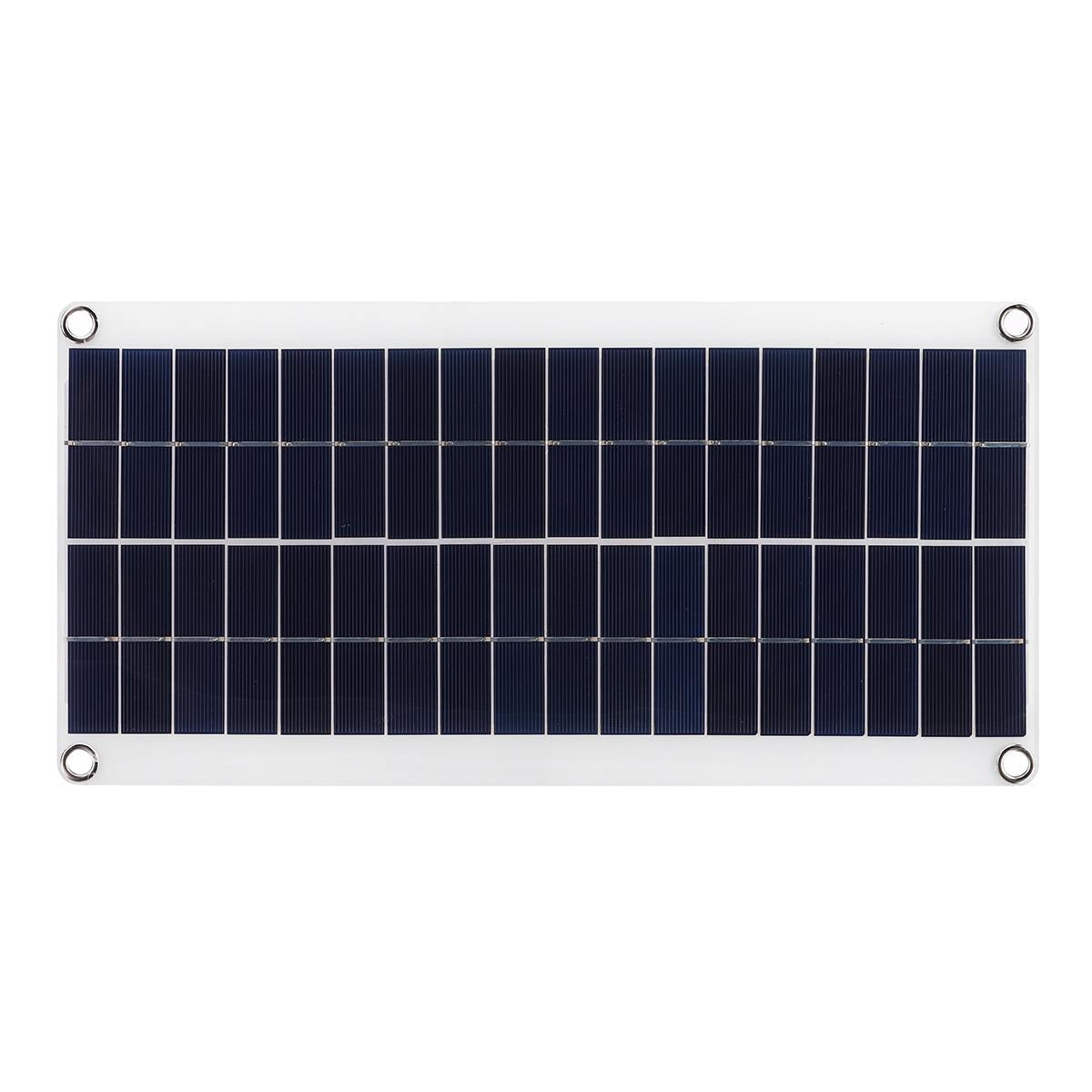 Cargador de batería de Panel Solar portátil de 60W DC 18V, tablero de células solares con pinzas de cocodrilo, cargador de coche para teléfono RV, coche, 411X200X2.5MM