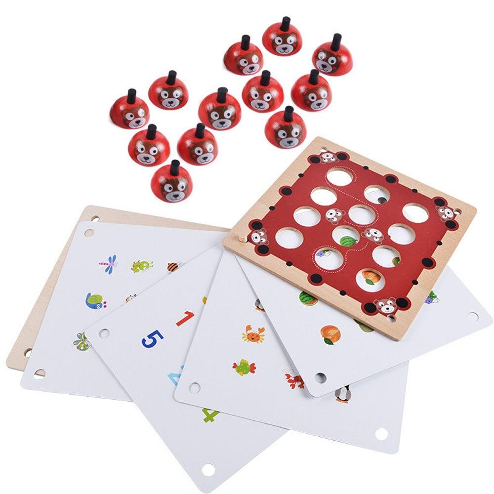 Juguetes de rompecabezas de juego de emparejamiento de madera Montessori para niños ajedrez de memoria Oyuncak Oyuncaklar Brinquedo Brinquedos regalo de cumpleaños