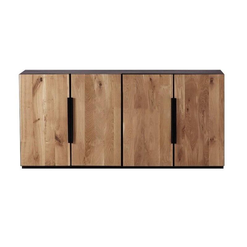 Paquete de 2 uds., gabinetes de cena de 180cm de largo con 2 puertas/85 cm de alto sideboard smdf con chapa de madera