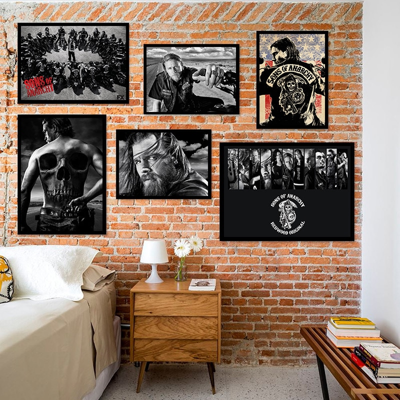Постер и принты анархии из сериала, Декор для дома, модульный постер для спальни, детской комнаты
