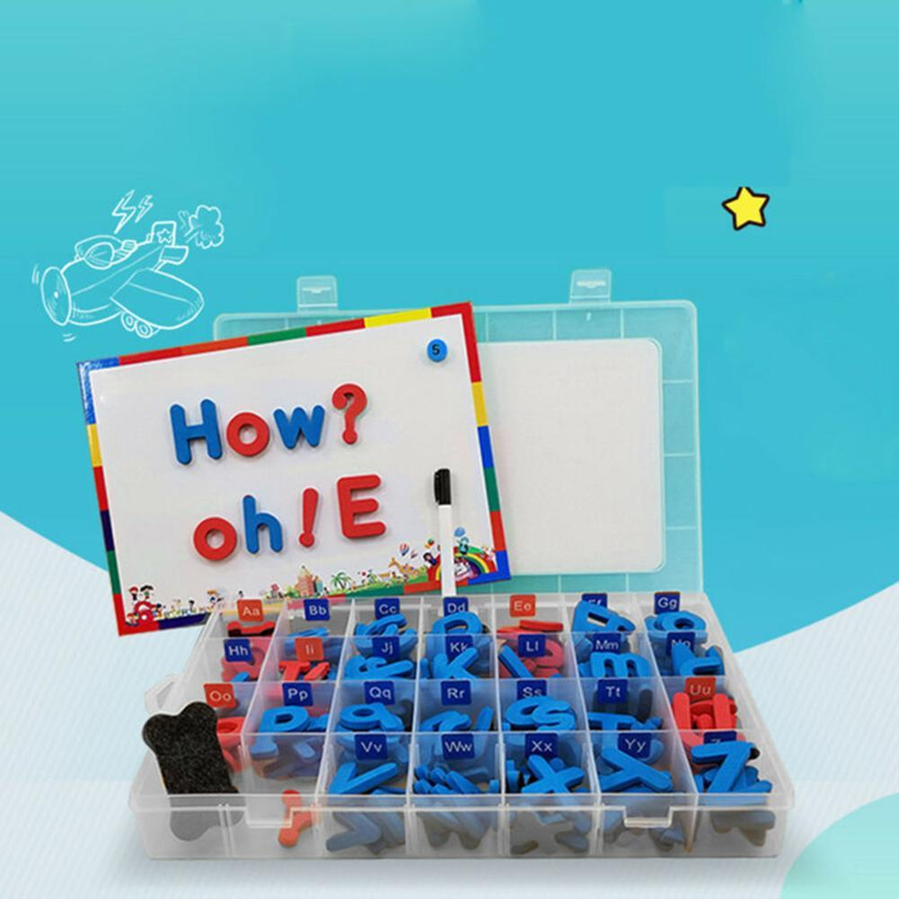 Letras coloridas números do alfabeto geladeira magnético bebê crianças pré-escolar brinquedo anti-stress brinquedo brinquedos diy