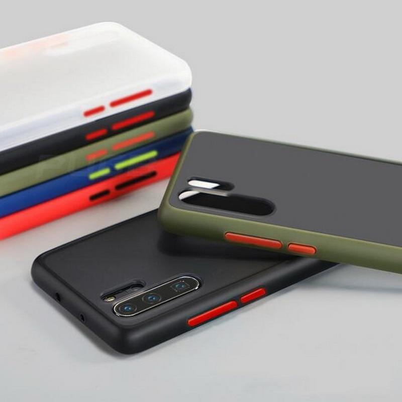 Funda de teléfono LOVECOM Color sólido armadura para Huawei P40 Mate 30 20 P30 P20 Pro Lite Nova 6 5 Honor 20 V30 Mate funda trasera suave TPU