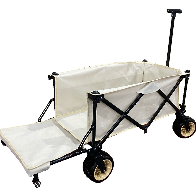 Collapsible folding heavy duty garden pull wagon folding outdoor camping cart