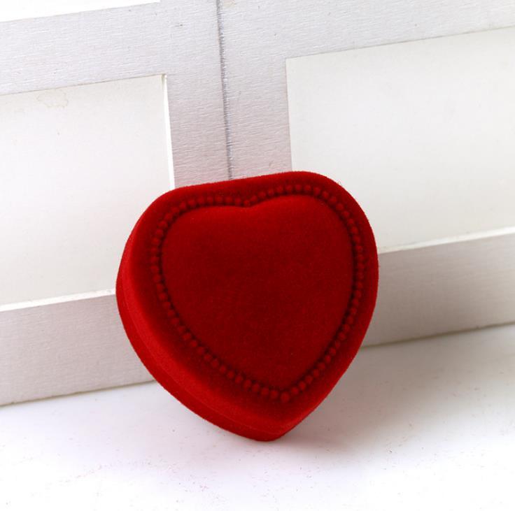 Caixas de Exibição Jóias Ornamentos Brincos Anel Embalagem Vermelho Cases Pingentes Presentes Organizador Amor Coração Nova Chegada sn