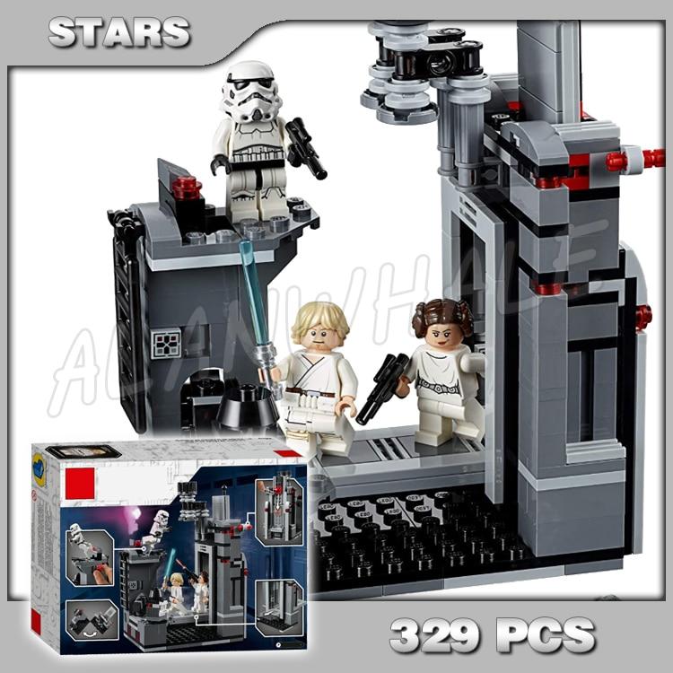 329 Uds espacio guerras de la estrella de la muerte de Luke Skywalker ratón Droid MODELO DE 11419 bloques de construcción conjunto de regalo Compatible con Lago