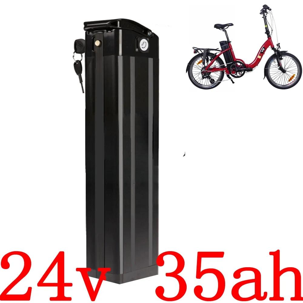 Batterie au Lithium pour vélo électrique, 24V, 8/10/13/15/17/18/20/25/27/28/30/34/35ah, 500/700W