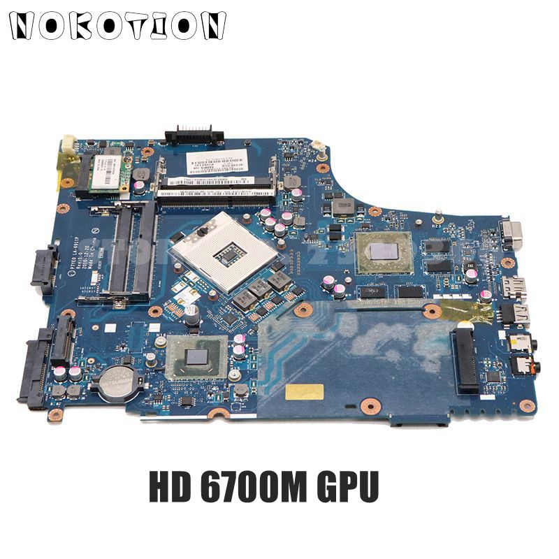 NOKOTION para Acer ASPIRE 7750G placa base de computadora portátil HM65 DDR3 P7YE0 LA-6911P MBRNA02001 MBRB102002 HD6700M gráficos