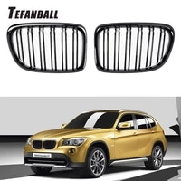 a pair double slat kidney grille sport front hood grill for bmw x1 e84 2011 2015 body kit auto accessories car styling