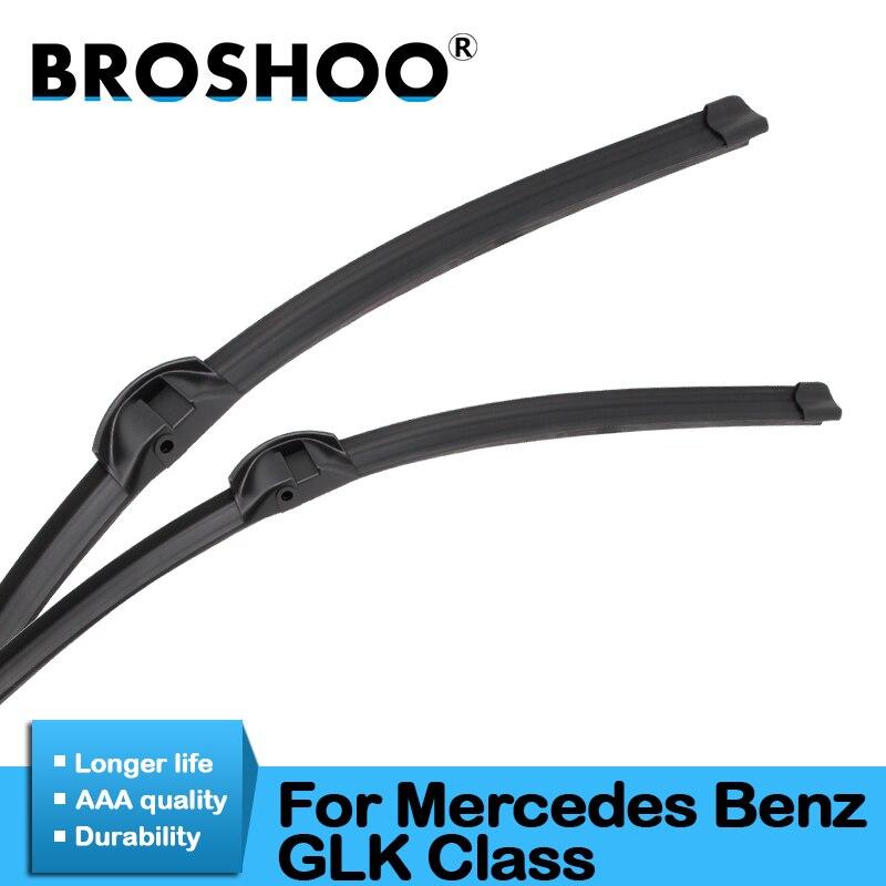 BROSHOO Car Windshield Wiper Blade Rubber For Mercedes Benz GLK Class X204 2007 2008 2010 2011 2012 2013 2014 2015 2016 2017