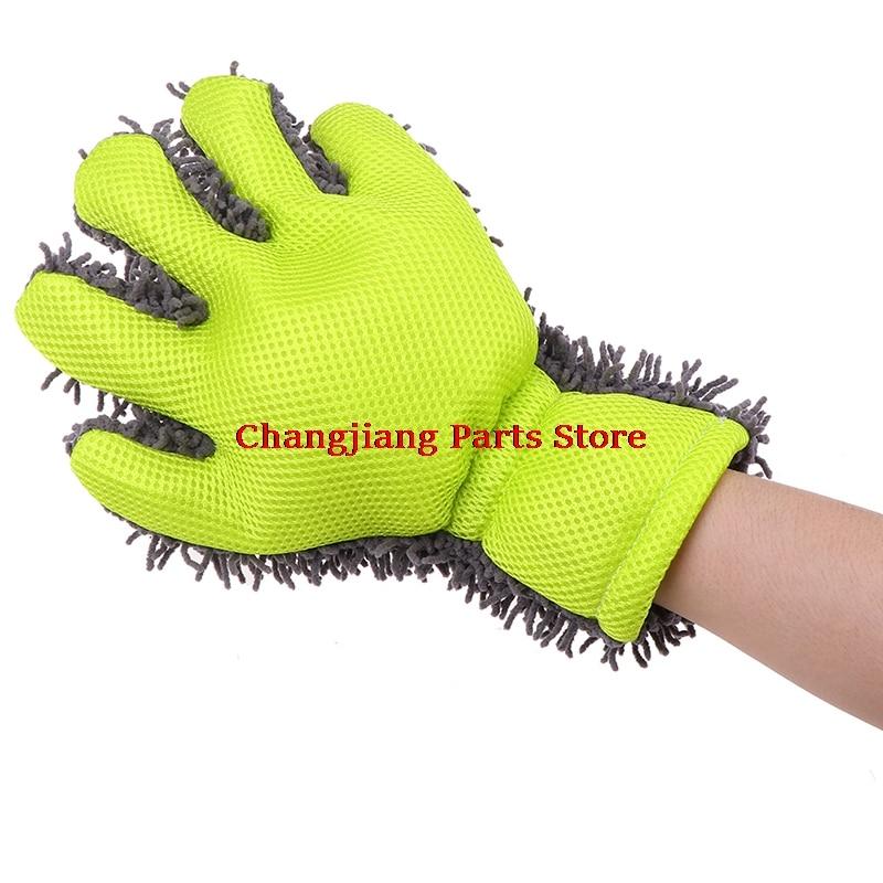 1pc Cleaning Glove Car Sponges Mitt Microfiber Interior Exterior Care Wash Tool