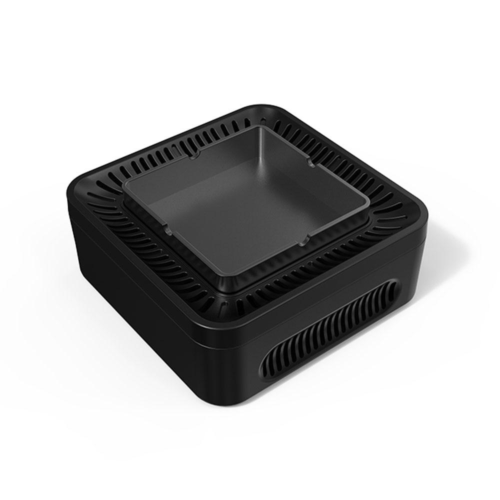 Cenicero purificador de aire multiuso de alta presión negativa purificador de aire ionizado USB recargable sin humo para el hogar Oficina Coche
