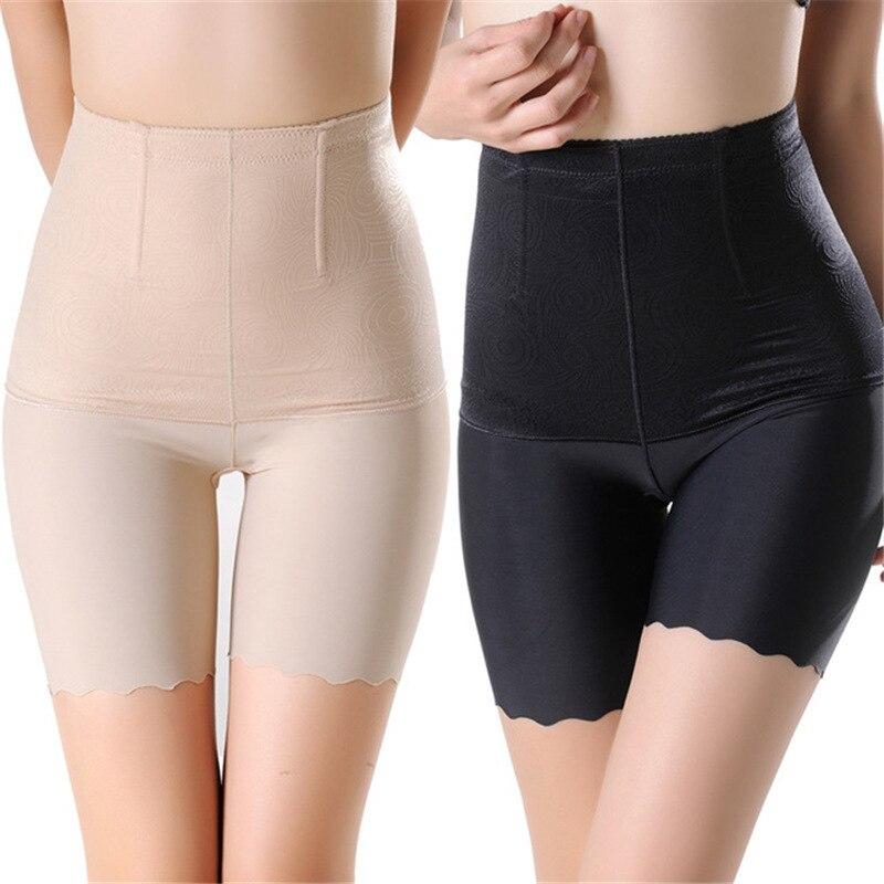 Hohe Taille Frauen Nahtlose Sicherheits Kurze Hosen Bauch-steuer Dünne Unterwäsche Plus Größe 4XL Atmungsaktive Shorts Boxer Unter Rock