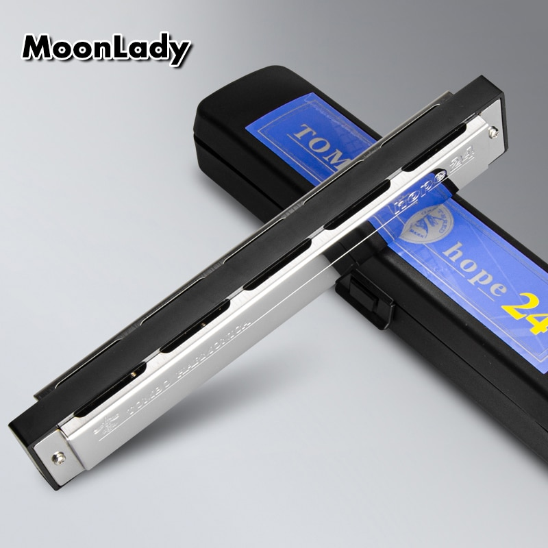 Japan TOMBO Tongbao 6624 Harmonica 24 Holes Male and Female Beginner Students adult Professional Playing Tremolo Harmonica enlarge