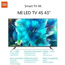 Xiaomi TV 4S 4K HDR Smart TV Xiaomi TV 43 pouces smart TV 2 + 8 Go télévision mi tv 3840 x 2160 HD 2.4G / 5.8G 5G WIFI Bluetooth 4.2 Android 9.0 International ES version