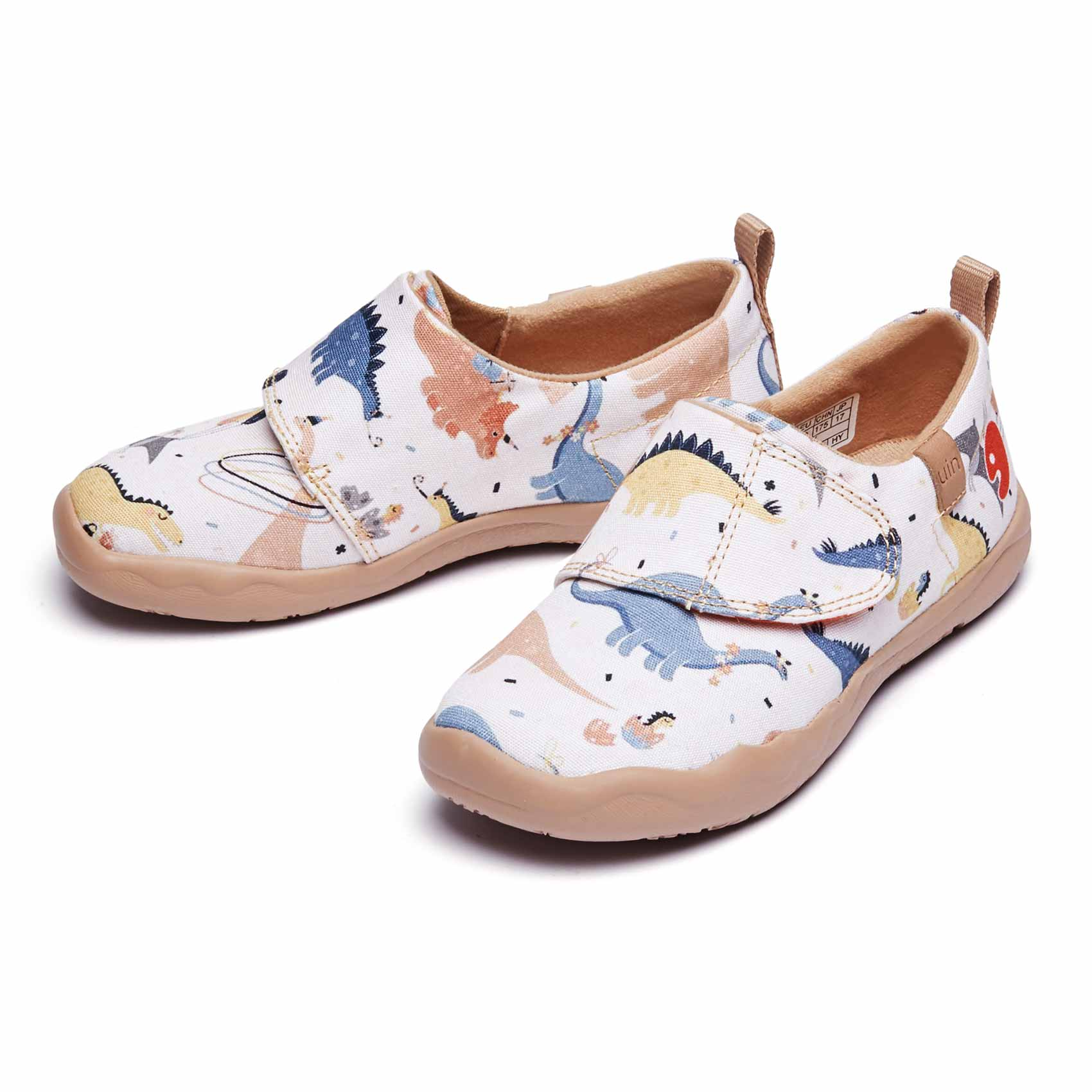 UIN Kids' Fashion Sneaker Colorful Painted Art Funny Walking Casual Travel Shoes enlarge
