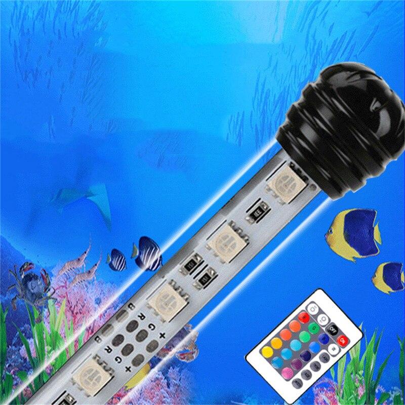 luz de led para aquario submersa a prova dagua ip68 19cm 29cm 39cm 49cm luz branca