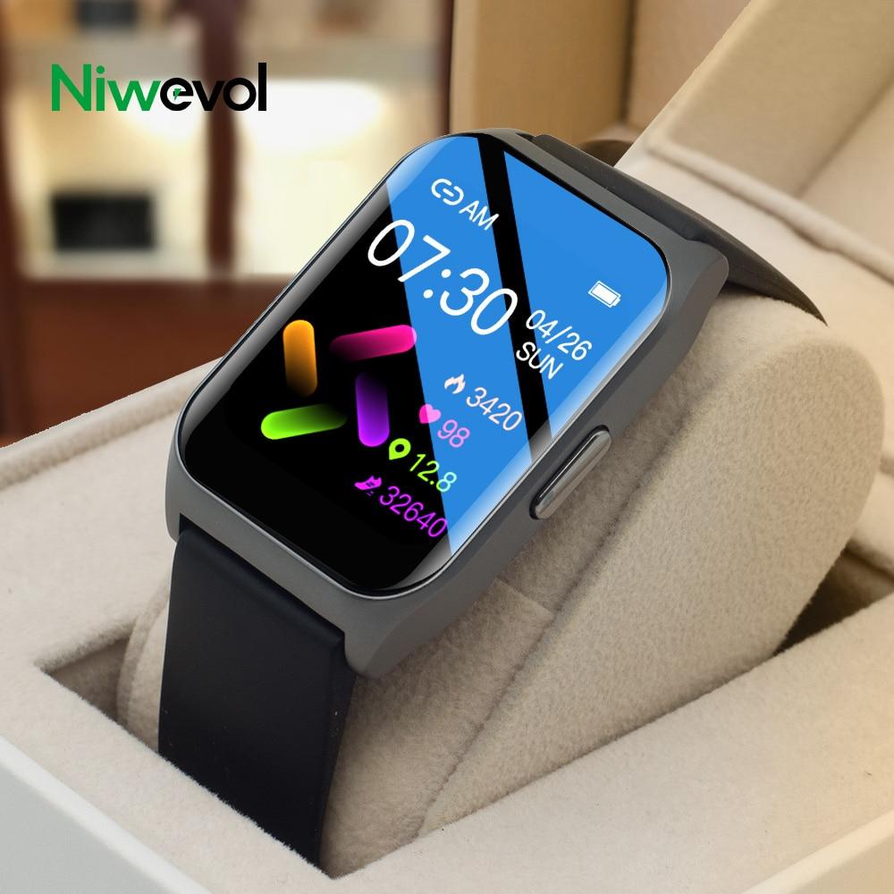 Niwevol بلوتوث دعوة ساعة ذكية الرجال تشغيل الموسيقى مخصص الطلب معدل ضربات القلب الرياضة اللياقة البدنية النساء Smartwatch لنظام أندرويد Ios