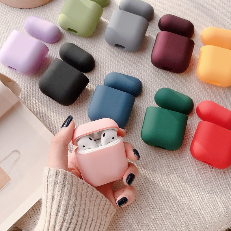 Original Para A Apple Airpods 1 2 Bluetooth Sem Fio do Fone de ouvido Caso Saco de Doces Coloridos Fosco Para AirPods Caso PC Duro Bonito tampa da Caixa
