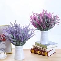 1 bundle romantic provence lavender home decoration accessories vase decoration for home artificial flowers grain fake plant