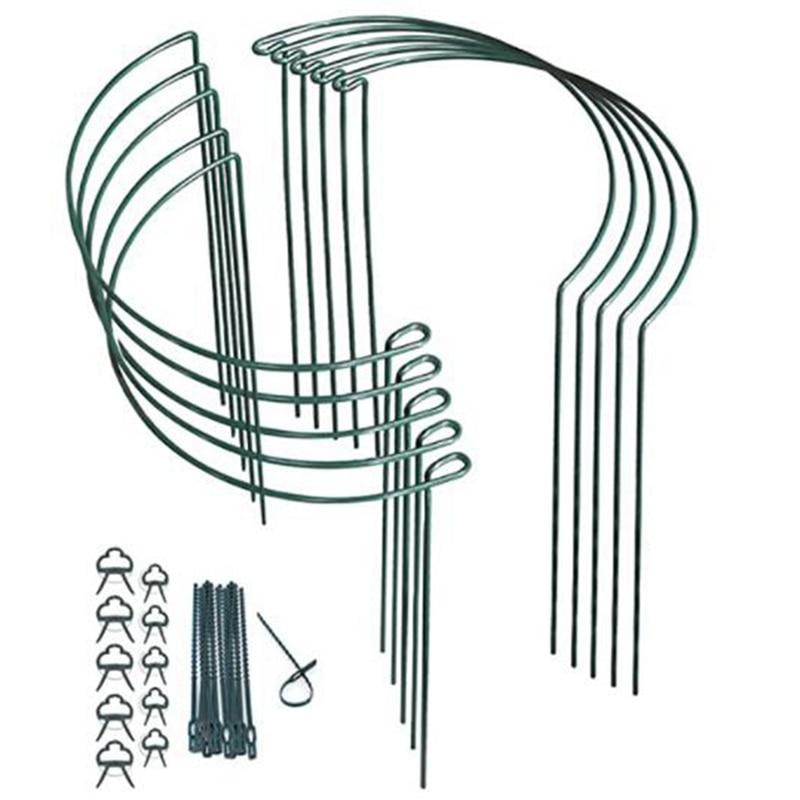 10 حزمة مصنع يدعم المعادن الربط مصنع دعم حلقة حديقة النبات حصص حديقة الحدود دعم حلقة مصنع عصا