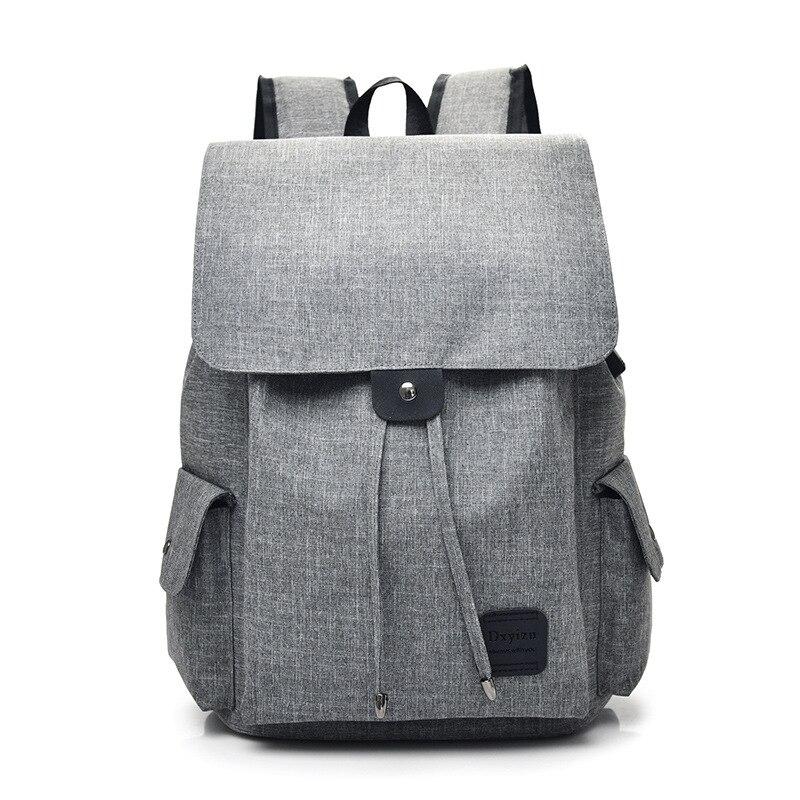 Nueva mochila para llevar, informal, a la moda, combina con todo, mochila con cordón, bolsa de viaje de gran capacidad Unisex para viento universitario