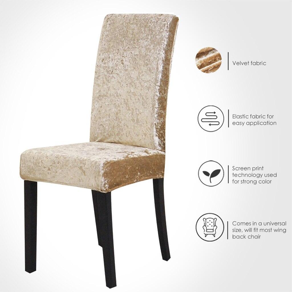 Чехлы на стулья из спандекса, однотонные защитные чехлы сиденья, сиденья для отеля, банкета, свадьбы, универсальный размер, housse de ...