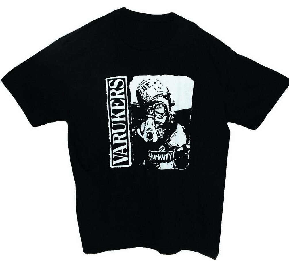 Os varukers t-camisa do punk rock descarga caos uk gbh banda gráfico t unisex camiseta personalizado gráfico