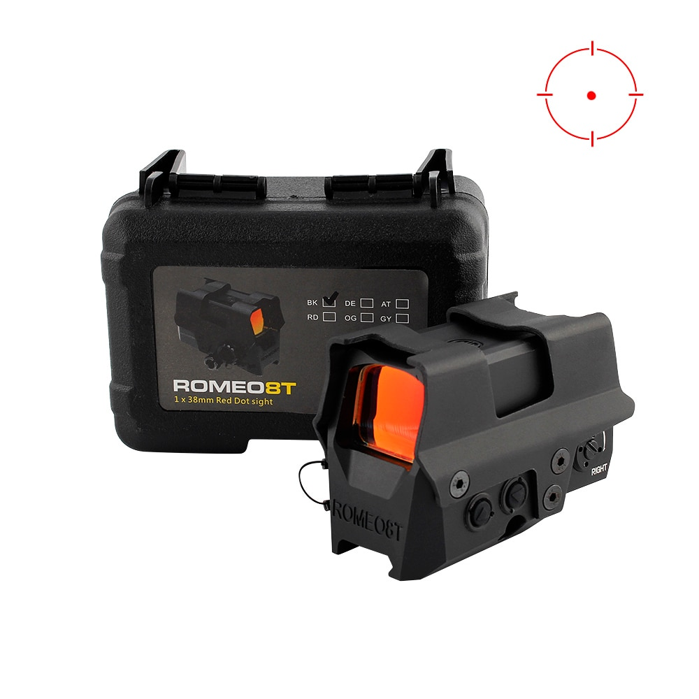 SIG ROEMEO 8T 1X38 MOA Aiming Point Red Dot Scope Holographic Reflective Scope Tactical Hunting Rifle AR15 M4 Optical Sight