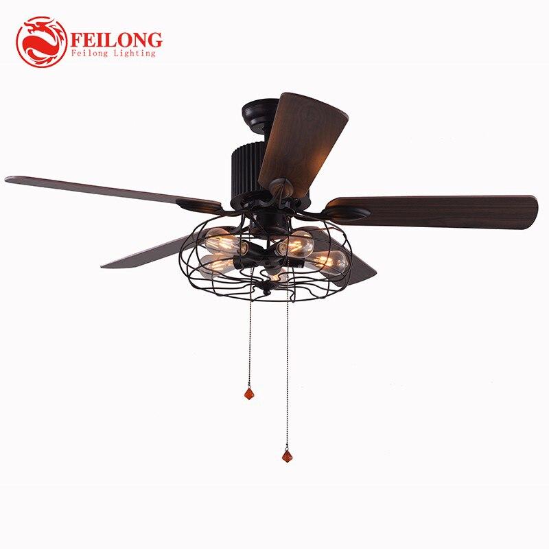 مروحة سقف الحديثة الزخرفية 52 بوصة قابل للسحب مروحة سقف شفرة مع أضواء التحكم عن بعد