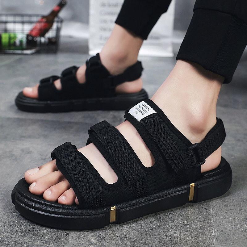 Men's summer new beach sandals Korean versatile casual light thick bottom couple's anti slip two wear slippers
