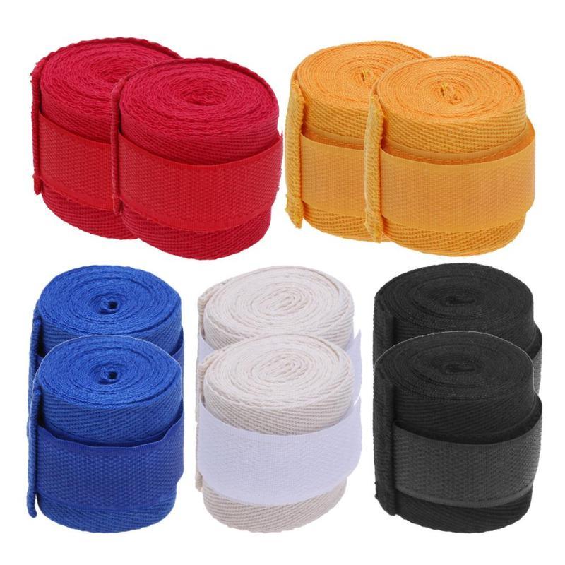 2 piezas 2,5 m Correa deportiva algodón Kick Boxing vendaje Sanda Taekwondo MMA guantes de muñeca envuelve el equipo de correas