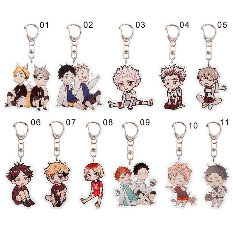 Volleyball boy Key Chain Ring Anime Haikyuu!! Keyring Cute Cartoon Keychain sleutelhanger 2020 New K