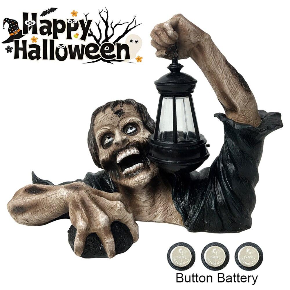 BIEMLERFN зомби фонарь новый креативный ужас Хэллоуин наружный Декор садовая статуя зомби с батареей фонарь зомби