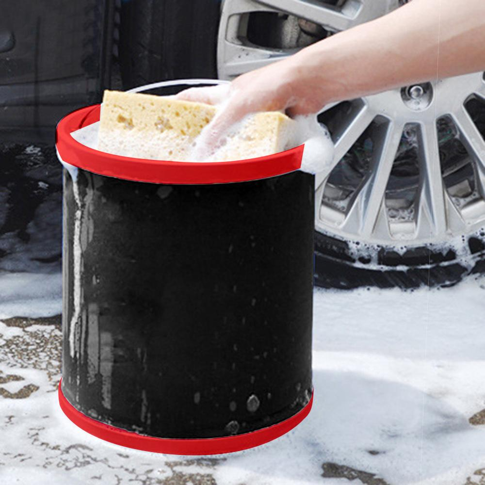 12L Car Wash Large Bucket Folding Bucket Home Multi-function Portable Bucket Outdoor Fishing Tackle Equipment enlarge
