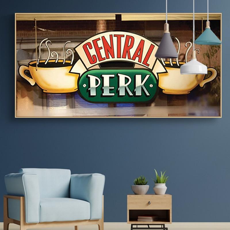Декоративные настенные постеры на холсте «кафе», «Друзья»