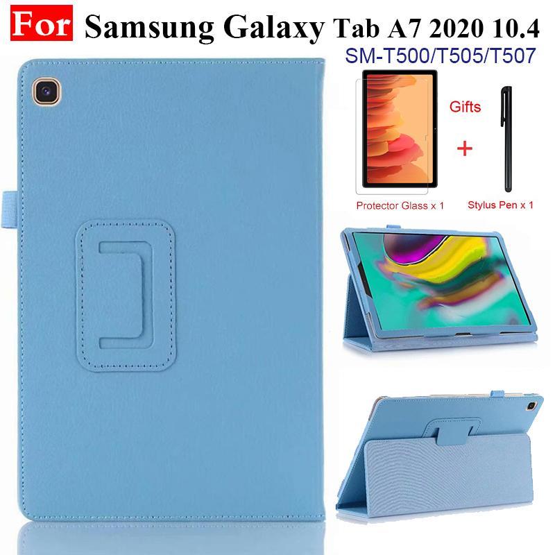 Para samsung galaxy tab a7 10.4 2020 couro do plutônio capa flip magnética para tab a7 10.4 polegada SM-T500 SM-T505 tablet suporte titular