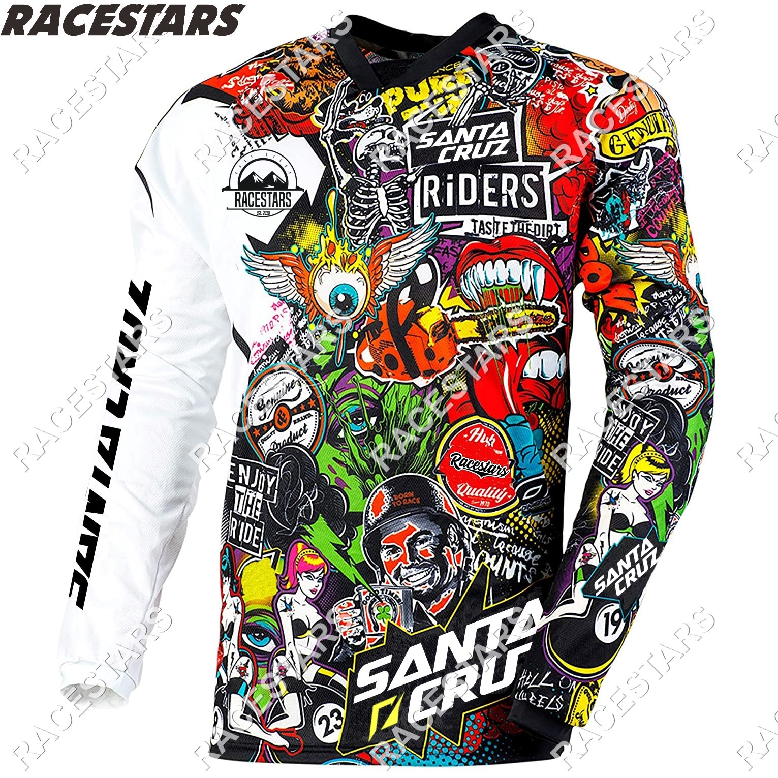 Camiseta de Motocross para Hombre, Maillot de secado rápido para Ciclismo de...