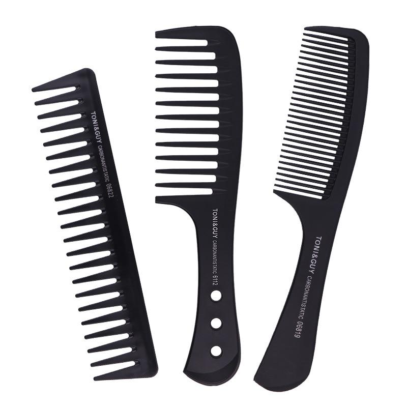 Расческа с большой ручкой для распутывания вьющихся волос, расческа для укладки бороды, масляная Расческа для мужчин, парикмахерская расче...