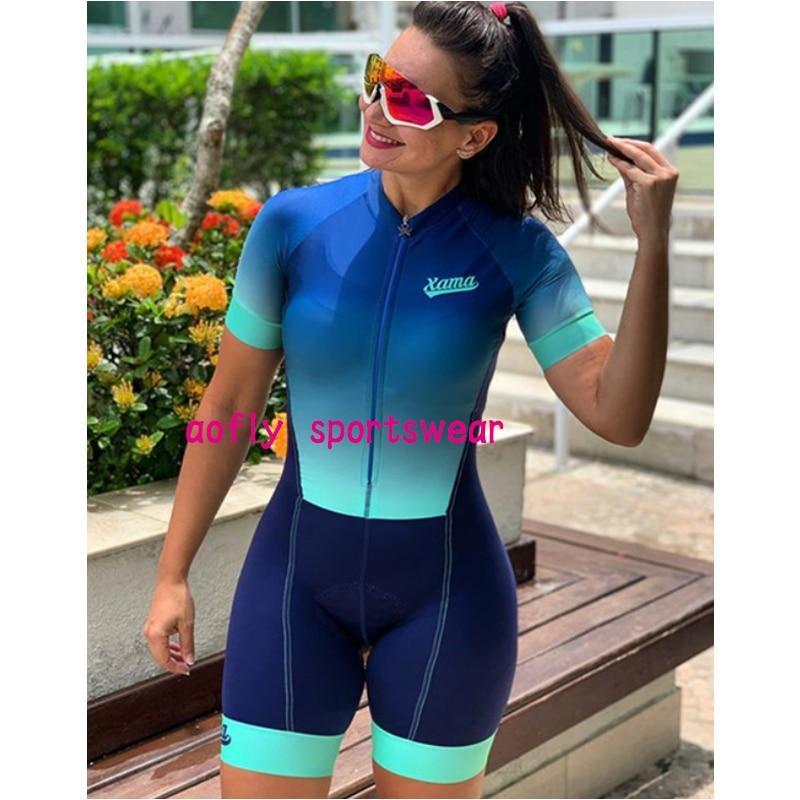 XAMA-traje De triatlón profesional para Mujer, mono con degradado, 8 colores, 2021...